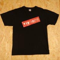 viccore ボックスロゴT BLACK/RED