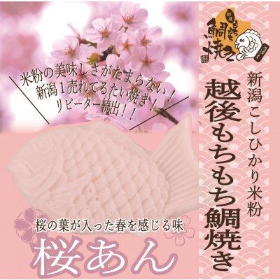 【春限定】越後もちもち鯛焼き(桜あん)米粉の美味しさがたまらない!新潟1売れてる!リピーター続出!!この味をお試しください!
