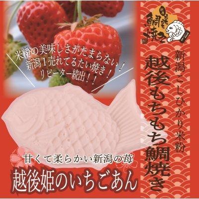【春限定】越後もちもち鯛焼き(越後姫のいちごあん)米粉の美味しさがたまらない!新潟1売れてる!リピーター続出!!この味をお試しください!