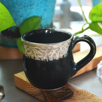 最後の一つ!秋色・マグカップ・翠窯