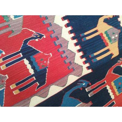 ラクダが可愛いキリム トルコの村から・・・手紡ぎ・手織り・草木染めキリム NEW