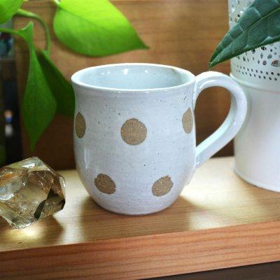 最後の一つ!水玉・マグカップ・翠窯