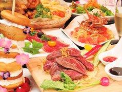 「贅沢女子会コース」特製パンケーキ付8品+3時間飲み放題 3500円 スパークリングもOK!