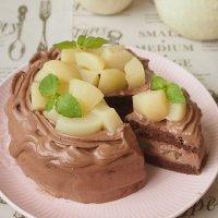 6号【グルテンフリー】季節のフルーツたっぷりチョコケーキ