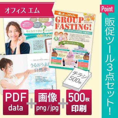 チラシ制作セット【印刷物500部+PDF+画像】の画像1