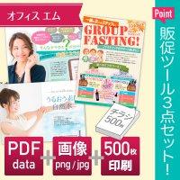 チラシ制作セット【印刷物500部+PDF+画像】