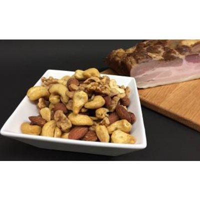 【食べたら止まらない美味しさ!!】 ベーコンスモークMIXナッツ 120g