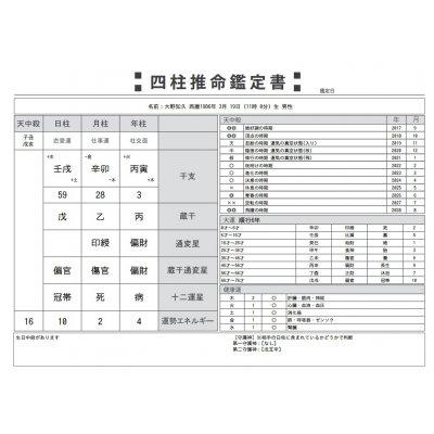 1/13 A様専用【四柱推命】個別鑑定(鑑定書付)
