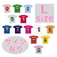 Lサイズ(サイン有り):推しメンキャラTシャツ / 萌えこれ学園