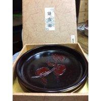 天然木 鎌倉彫の菓子器