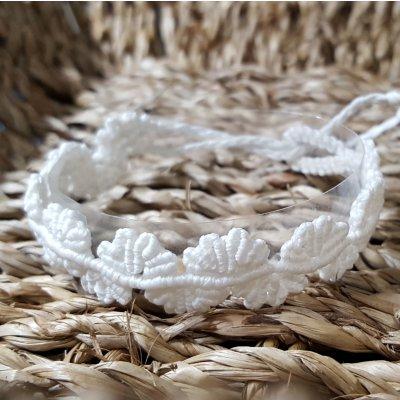 手作りマクラメ編み ミサンガ [白]