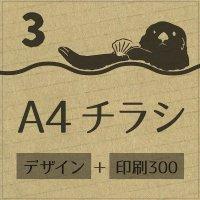 3.チラシ作成+印刷(300枚)