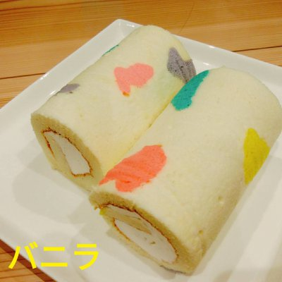デコロールケーキ(バニラ、ココア、珈琲、ごま)の画像1