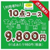 【送料無料】クリーニング宅配10点パック(Lサイズ)