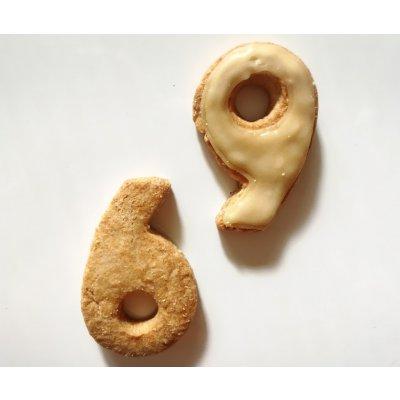 【グルテンフリー・卵不使用】アイシングクッキー ナンバー9(1枚入り)