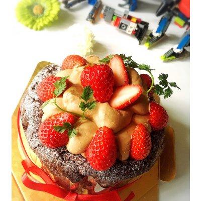 【グルテンフリー】クリスマスケーキ ドライフルーツとナッツのチーズクリームタルト