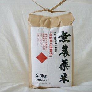 代金引換商品/無農薬玄米    5kg(2.5kg×2袋) 青森県産つがるロマンの画像1
