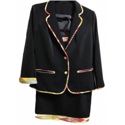【タイトスカートタイプ】ウズベキスタンの伝統模様/アトラス/オーダーメイド/春のジャケット&スカート