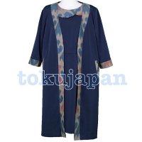 春のワンピース&ロングジャケット/ウズベキスタンの伝統模様/アトラスのオーダーメイドお洋服