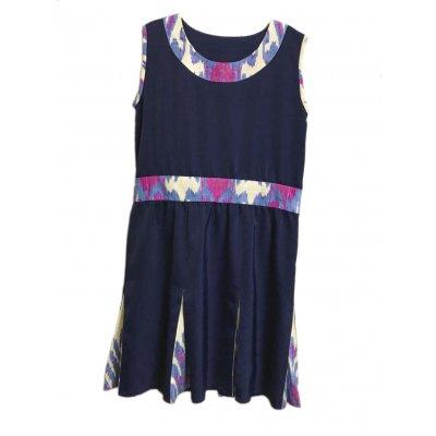 【フレアスカートタイプ】ウズベキスタンの伝統模様/アトラス/オーダーメイド/春のワンピース