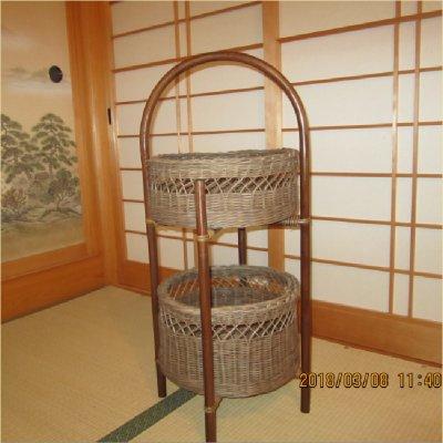 オリジナル藤工芸の2段式籠(カゴ)~わたしだけの一品~