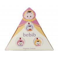 bebib-ベビブ-ベビー(刺繍:むらさき、きいろ、ピンク)