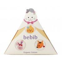 bebib-ベビブ-ネコ(刺繍:ひよこ、りす、うさぎ)