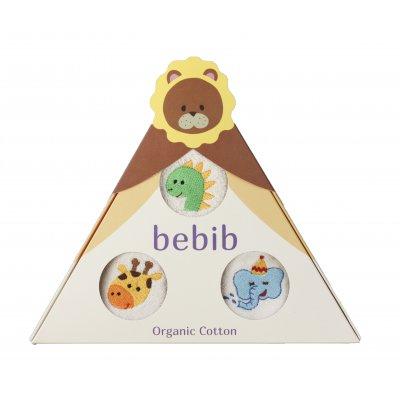bebib-ベビブ-ライオン(刺繍:きょうりゅう、ぞう、きりん)