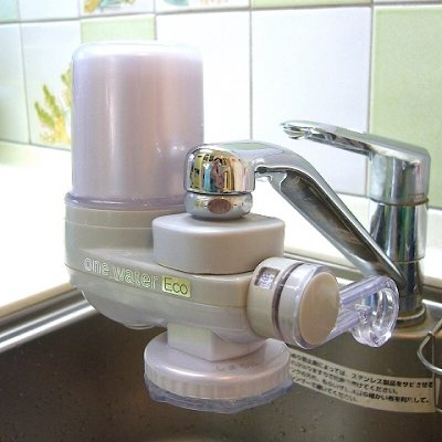 【台所用(取り付け可能か要確認)】素粒水の浄水器 ワンウォーターECOまたはシャワー