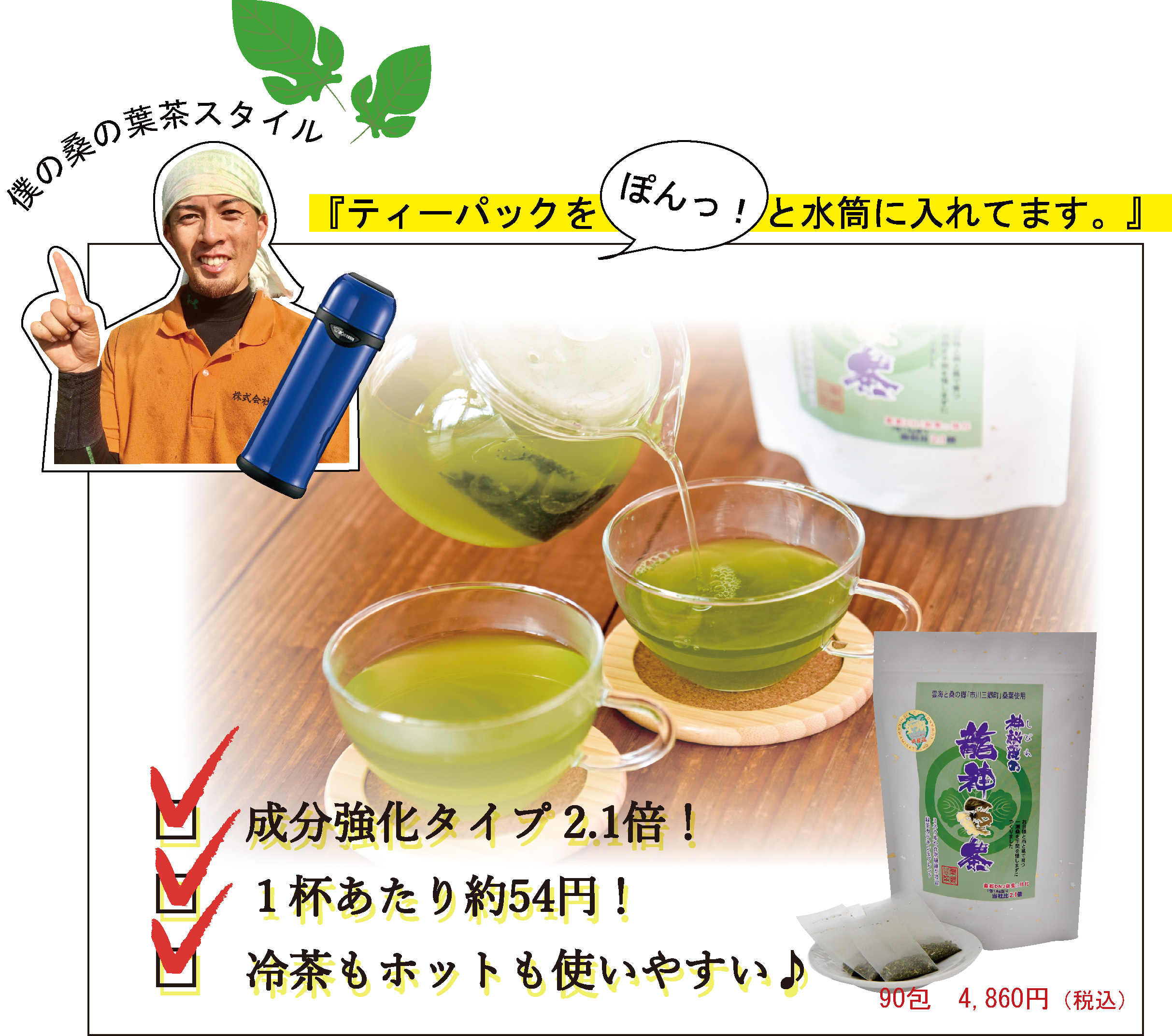 桑の葉茶 ティーパックタイプ エキス強化