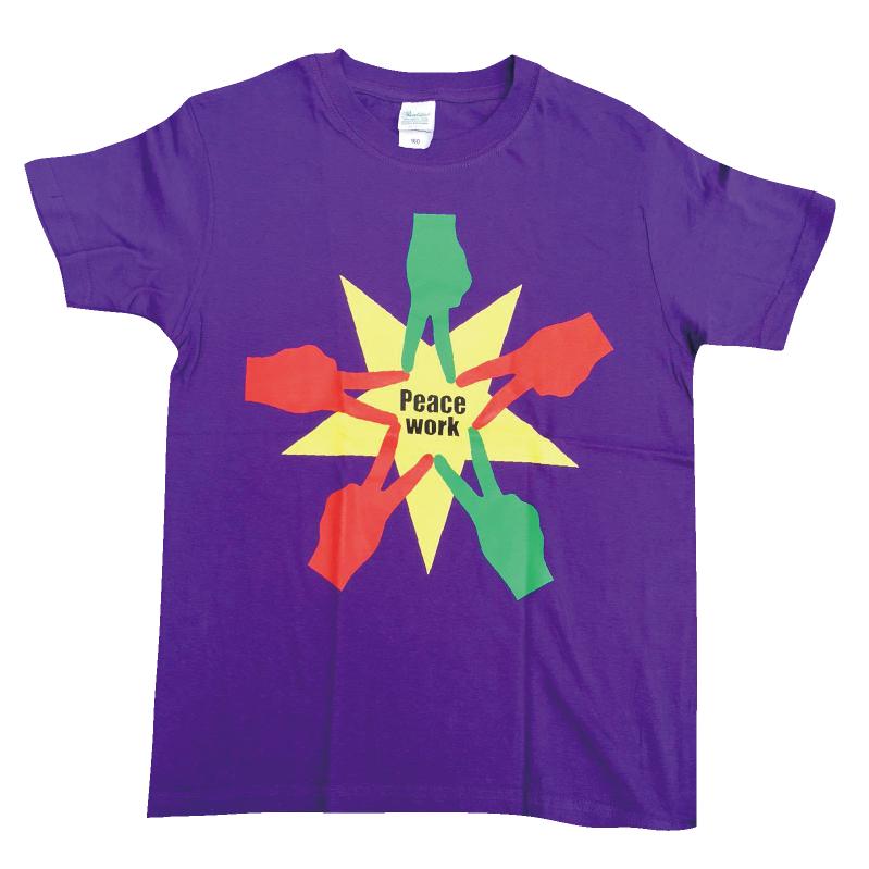 PeaceWorkTシャツパープル